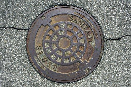 Manhole, Manhole Cover, Road, Metal, Drainage, Cover