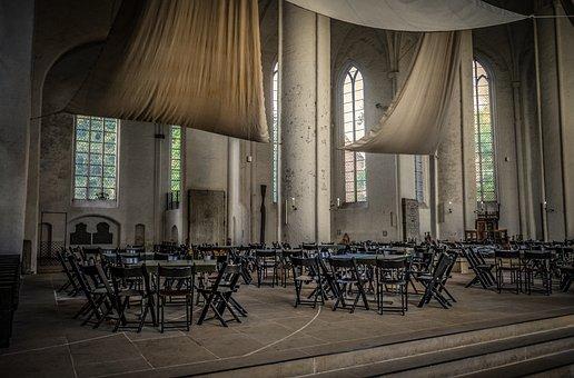 Church, Interior, Window, Sail Shade, Deco, Chairs