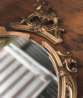 Vintage, Mirror, Frame, Antique, Decoration, Design