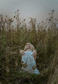 руки, Grass, Reflection, Colorful, Design, Portrait