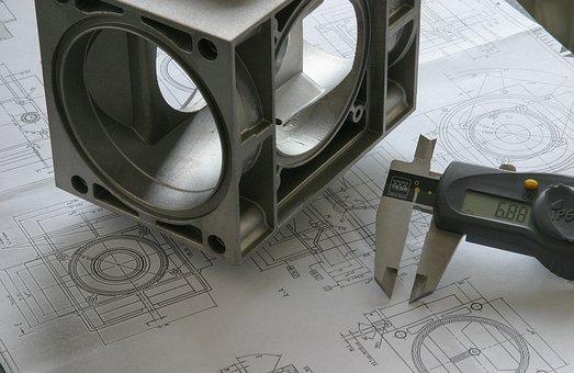 Engineer, Drawing, Blueprint, Technology, Sketch