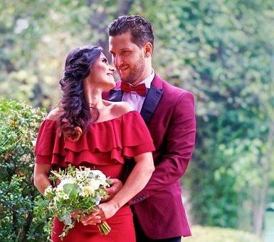 Godparents, Wedding, Park, Event, Flowers, Couple