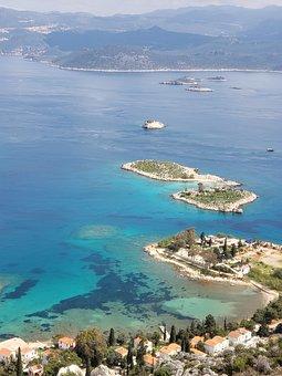 Island Chain, Beautiful Sea, Ancient Port, Sunny Day