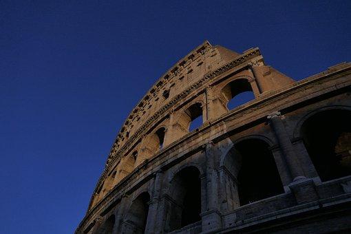 Colosseum, Rome, Italy, Architecture, Romano, Monument
