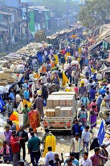 India, Market, Flower, Kolkata, Calcutta, Colorful