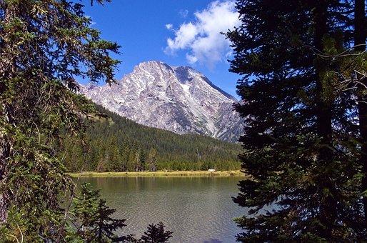 Mount Moran Over String Lake, Mountains