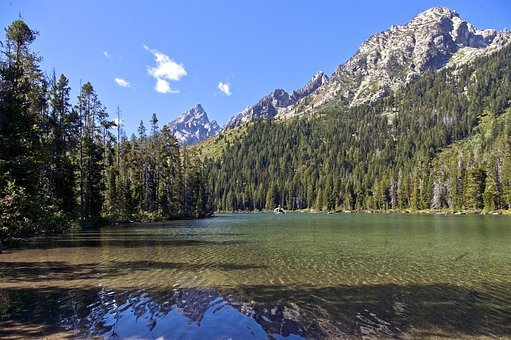 String Lake In Tetons, Mountains