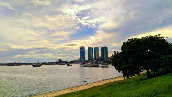 Dar Es Salaam, Tanzania, Sky, Ocean, City, Skyline