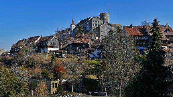 Architecture, Switzerland, Rain Mountain, Castle