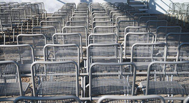 Chairs, Metal, Rows Of Seats, Furniture, Steel