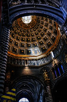 The Cathedral, The Interior Of The, Siena, Church