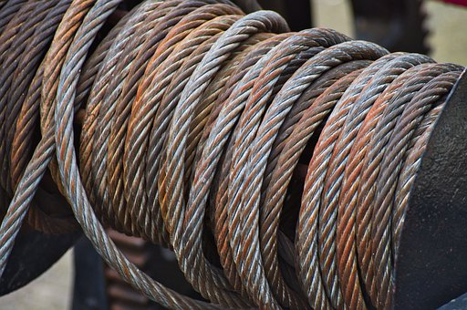 Steel Cable, Winch, Rope, Ship