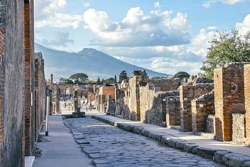 Pompeii, Vesuvius, Street, Italy, Tourism, Naples