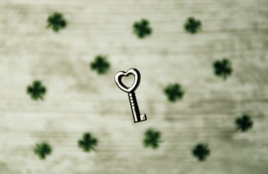 Key, Luck, Heart, Love, Symbol, Romantic, Trust