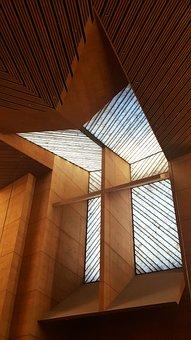 Los Angeles Cathedral, Alabaster, Windows, Cross