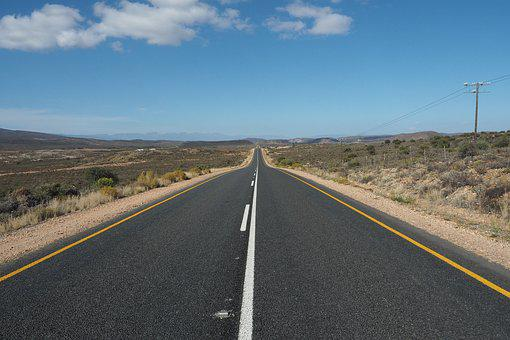 Road, South Africa, Travel, Asphalt, Landscape, Clouds
