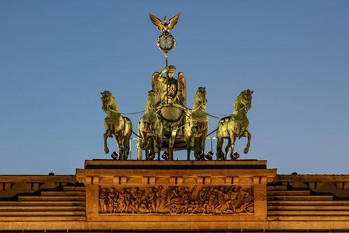 Quadriga, Berlin, Landmark, Brandenburg Gate, Monument