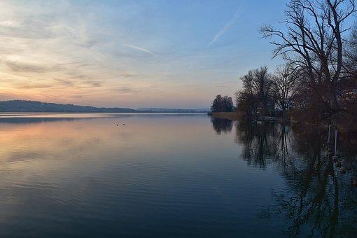 Sky, Blue, Water, Evening, Sunset, Rest, Romantic
