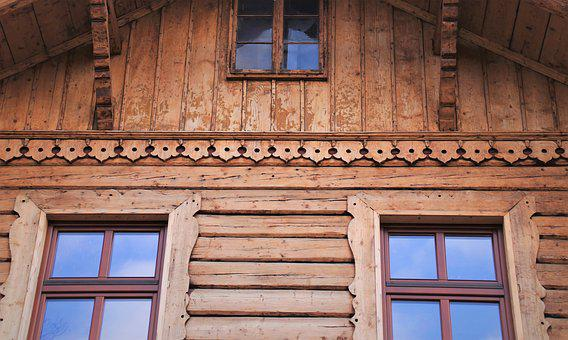 Wooden Cottage, Boards, Old, Facade, Window Sill