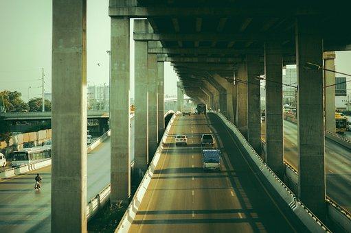 Asia, Thailand, Bangkok, City, Street, Road, Cars