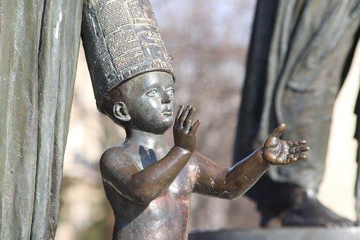 Sculpture, Bronze, Child, Monument, Statue, Figure