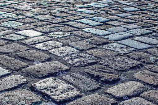 Patch, Stone, Road, Away, Cobblestones, Paving Stones