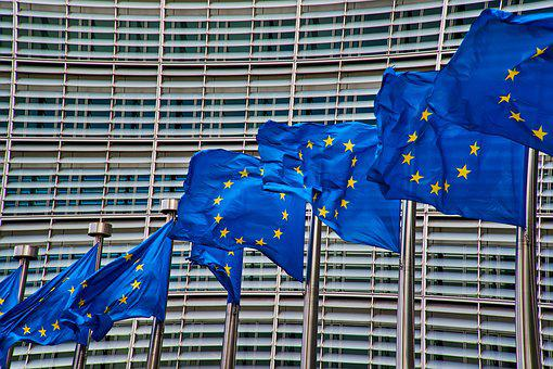 Brussels, Europe, Flag, European Commission, Policy