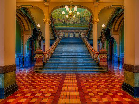 Grand Staircase, Iowa State Capitol, Inside, Interior