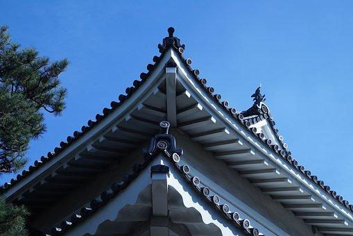 Japanese Palace Details, Kyoto, Edo Period Architecture