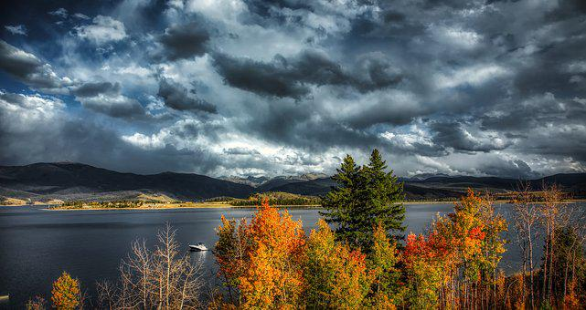Lake Granby, Colorado, America, Tourism, Sky, Clouds