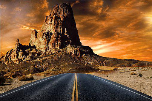 Mountain, Road, Highway, Travel, Landscape, Asphalt