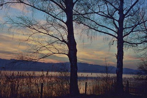 Sunset, Abendstimmung, Mood, Landscape, Dusk, Sky