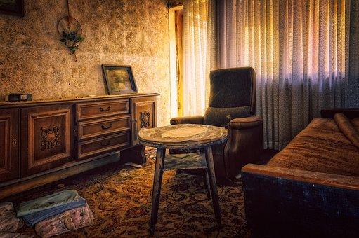 Living Room, Furniture, Setup, Unfashionable, Apartment