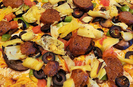 Pizza, Gourmet, Lunch, Meal, Food, Vegan, Pineapple