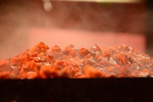 Meat, Smoke, Street, Iron