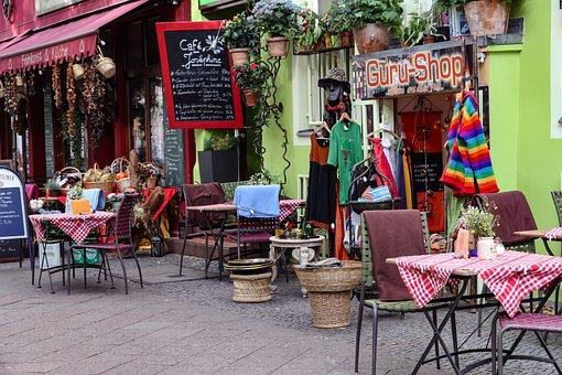 Streetscape, Mountain Man Road, Berlin, Kreuzberg, Cafe