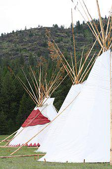 Tipi, Mountains, Powwow