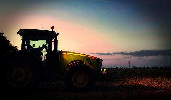 Tractor, John Deere, Agriculture, Nature, Machine