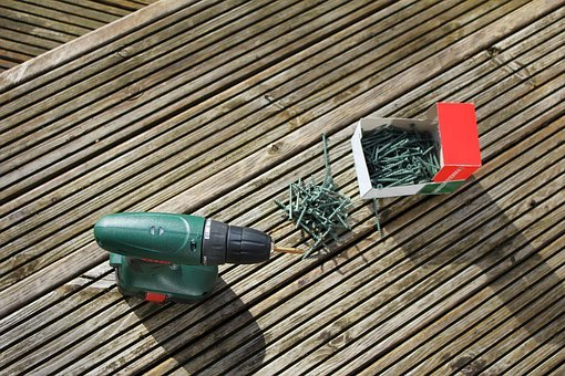 Screw, Wooden Decking, Fix, Repair, Box, Drill Bit
