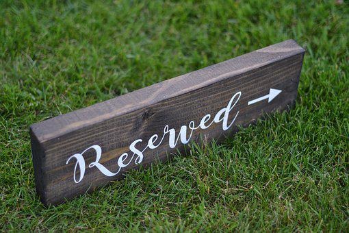 Reserved Sign, Wedding, Sign, Wedding Reserved Sign