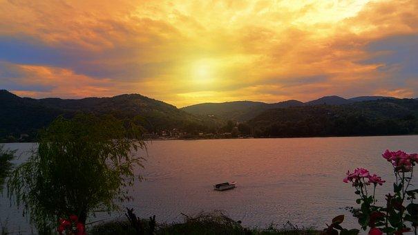 Sunset, Nature, Landscape, Sky, Clouds, Mountains