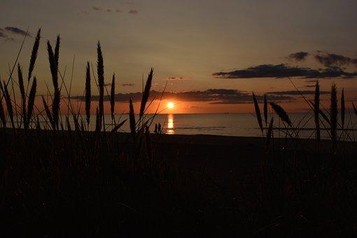 Nature, Sunset, Sea, Sun, Coast, Landscape, Sky