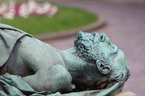 Bronze, Sculpture, Statue, Recumbent, Recumbent Statue