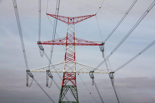 Mast, Current, Energy, Landline, Strommast, Lines