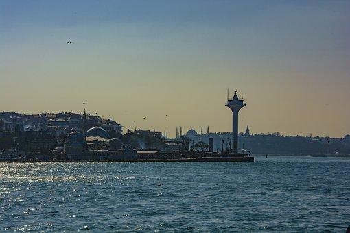 üsküdar, Istanbul, Turkey, Blue, Marine, Beach, Sky