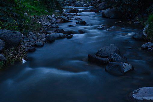 River, Water, Blue, Landscape, Nature, Waterfall