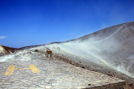 Vulcano, Aeolian Islands, Sulphur Field, Crater Rim