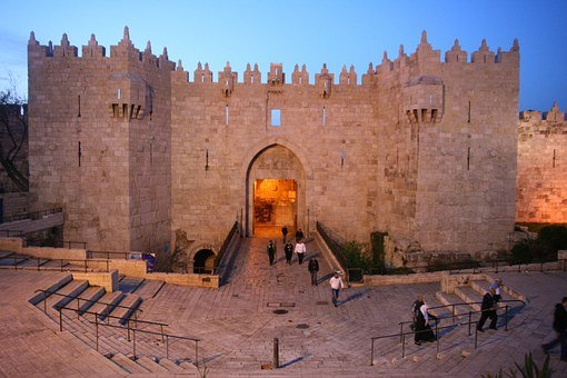 Gate Of Damascus, Jerusalem, Gate, Damascus, Ancient
