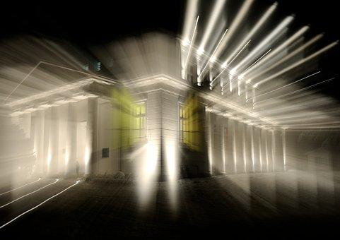 Building, Home, Architecture, Window, Light, Light Art