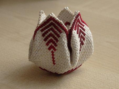 Embroidery, Handicraft, Canvas, Cross-stitch, Bud